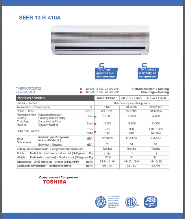 wall unit heatpump